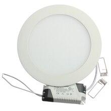 Ультра тонкий дизайн 25 Вт светодиодный потолочный встраиваемый светильник/круглый или квадратный панельный светильник 225 мм, 1 шт./лот