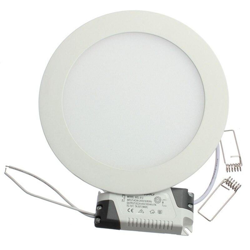 """עיצוב דק במיוחד 25 w תקרת LED שקוע רשת downlight/עגול או מרובע פנל אור 225 מ""""מ, 1 יח'\חבילה משלוח חינם"""