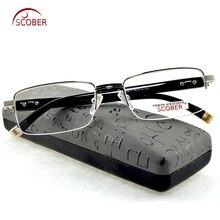 = SCOBER = MEN Titanium alloy +TR90 Senators Antireflective coated reader read Non spherical reading glasses +0.5 +0.75 +1 to +6