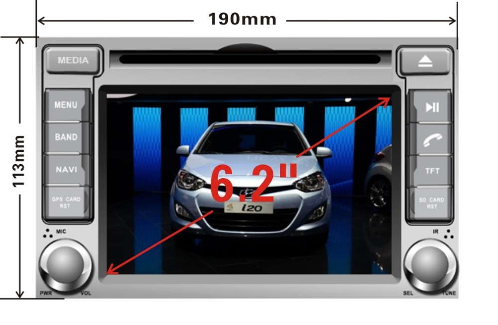 Worldwide delivery hyundai i20 navigation multimedia in