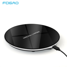 New Ultra-Thin Wireless Charger For iPhone XS Max XR X 8 Mobile Phone Qi Charge Wireless Charging Pad for Samsung S9 S8 Note 9 8