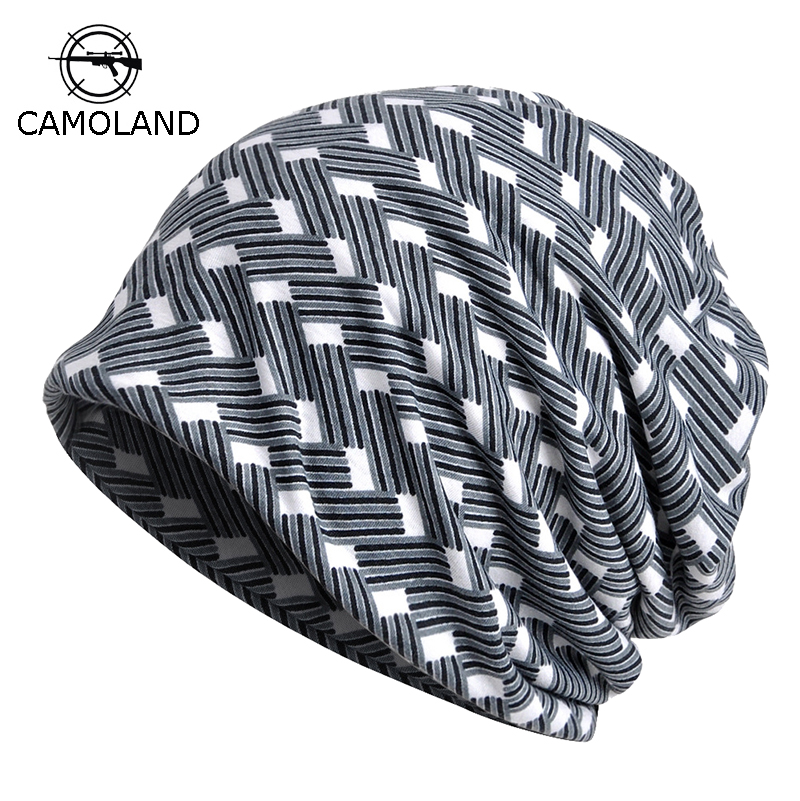 Cotton Mens Spring Summer   Beanies   for Women Hat Thin Hiphop Helmet Liner Sports Hat Breathable Vintage Slouchy Baggy   Skullie
