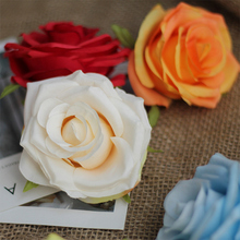 Foam Rose Artificial Flower 8-9CM head Multicolor PE Mini Bouquet Wedding Decoration @