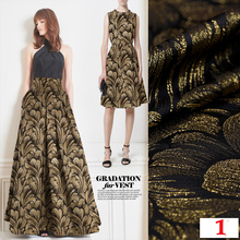 HLQON High quality metallic yarn dyed brocade jacquard fabric used for dress women clothing tissue patchwork sewing