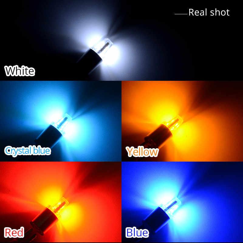 NAO 2x W5W светодиодный T10 светодиодный автомобиля 5w5 ДХО, светодиодная фара 12V Авто 3030 чипы 194 168 габаритный фонарь 6000K белый янтарь синий и красный цвета 450LM