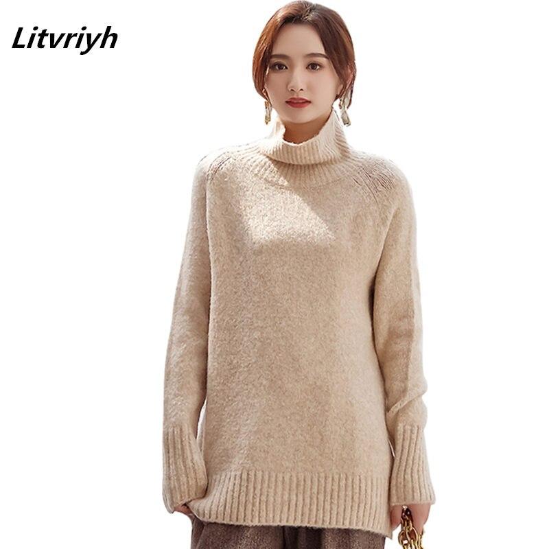 lowest price 2dd8b f7851 deep Sciolto Lavorato Lunghe Cachemire E Delle Pullover ...