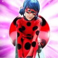 Miraculous Ladybug Girl Cosplay Costume Kids Second Skin Tight Suit Spandex Turtleneck Unitard Women Halloween Party Tight Suit