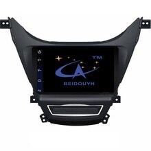 "BEIDOUYH Android 9"" Car radio Player for Hyundai Elantra 2012-2016 Support GPS navigation/DVR dash cam/can-bus auto navigator"