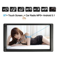 7 Zoll Android 5.1 HD LCD Großen Touch Display Auto DVD/MP5/Mp3-player Maschine Gps-navigationssystem Multimedia Player