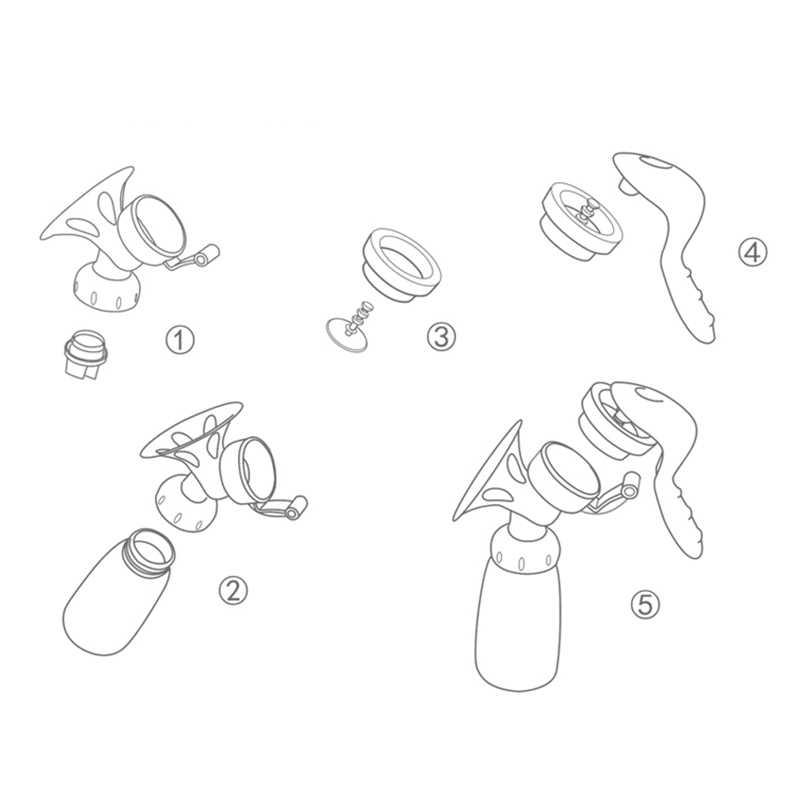 Ручной молокоотсос мощный детский соска всасывания 150 мл Питание Молоко бутылки молокоотсосы бутылка сосания T0099