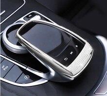 Автомобиль Управление мышь touchpad Рамки крышка наклейка автомобиль-Стайлинг для Mercedes Benz GLC c e класса W205 w213 C200 E200 et