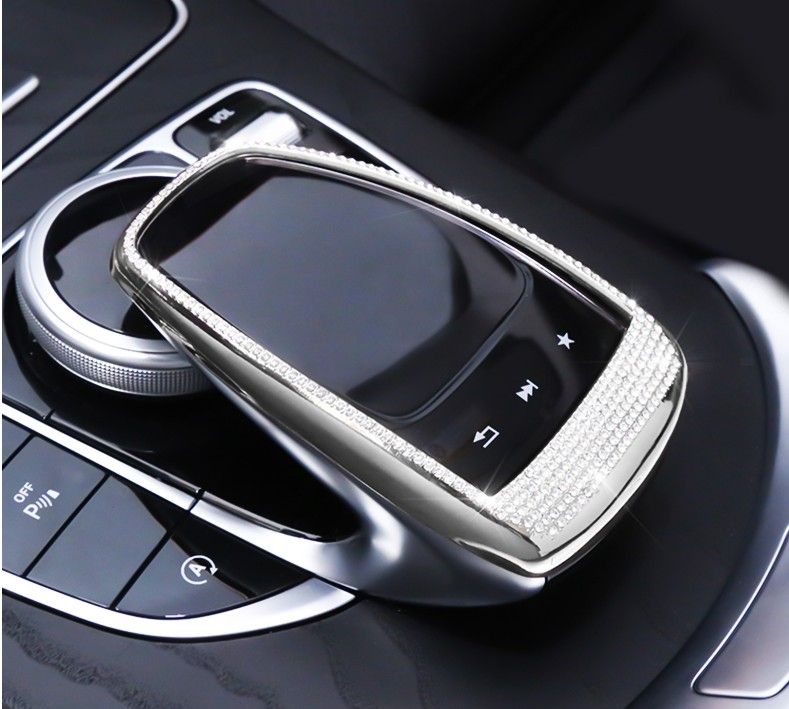 Car Control the mouse Touchpad Frame Decoration Cover sticker Car-styling For Mercedes Benz GLC C E Class W205 W213 C200 E200 et carbon fiber emblem car stickers b column door bumper sticker for mercedes benz c class w205 c180 c200 c300 glc car styling