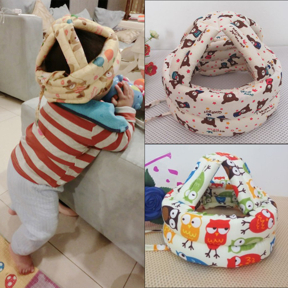 New Infants Baby Toddler Cap Anti-collision Protective Hat Baby Safety Helmet Soft Head Security Protection Hats 21 Colors защитный детский шлем