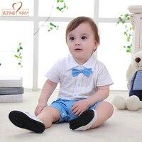NYAN CAT Baby Boys Infant Toddler Kids Summer Clothes Romper Gentleman Bow Tie Black Blue Jumpsuit