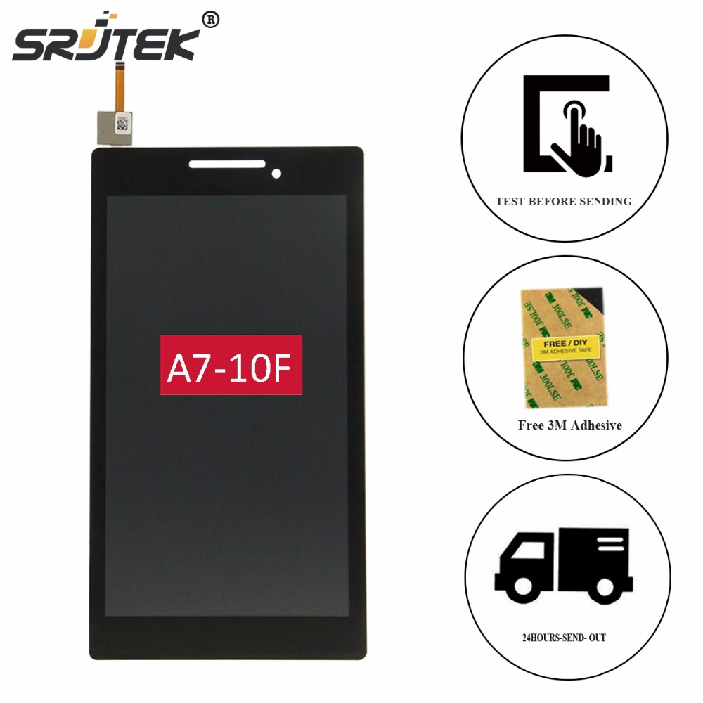 Srjtek 7 For Lenovo Tab 2 A7-10 A7-10F A7-20 A7-20F LCD Display Touch Screen Digitizer Glass Panel Sensor Tablet Replacement srjtek 7inch for acer iconia tab7 tab 7 a1 713 lcd display touch screen digitizer sensor replacement parts tablet pc
