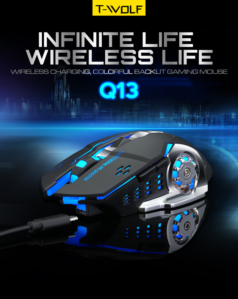 T-WOLF Q13 Rechargeable Wireless Mouse (9)
