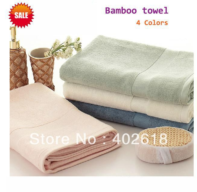 Towel Stock Lots: (1PCS/Lot) Bamboo Towels 140x70cm Size,100%bamboo, Thicker