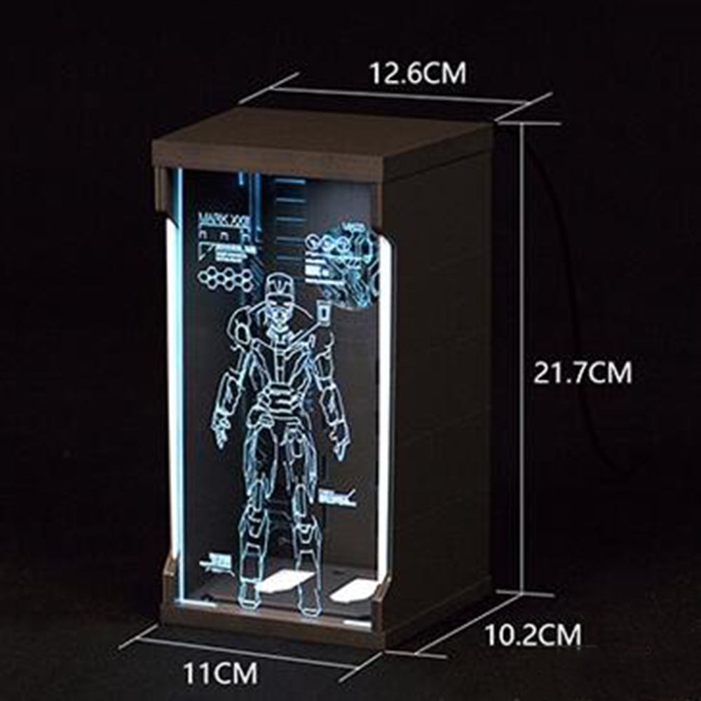 1/12 Scale Comicave SHF Iron Man Acrylic Hall of Armor Display Dust Box1/12 Scale Comicave SHF Iron Man Acrylic Hall of Armor Display Dust Box