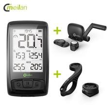 Meilan M4 Wireless Bike Computer Velocímetro de la bicicleta Tacómetro cadencia Sensor de velocidad Bluetooth impermeable Monitor de frecuencia cardíaca