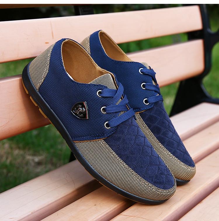 HTB1lSkDafjsK1Rjy1Xaq6zispXaC 2019 Shoes Men Flats Canvas Lacing Shoes Breathable Men Casual Shoes Fashion Sneakers Men Loafers Wholesale Men 39 S Shoes