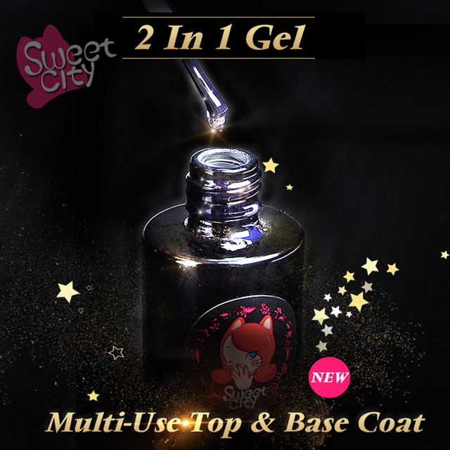 Peel-Off Gel Base Coat UV LED Gel Polish No Need Remover Water Multi-Use Gel Primer Top Foundation 2 in 1 Art 10ml