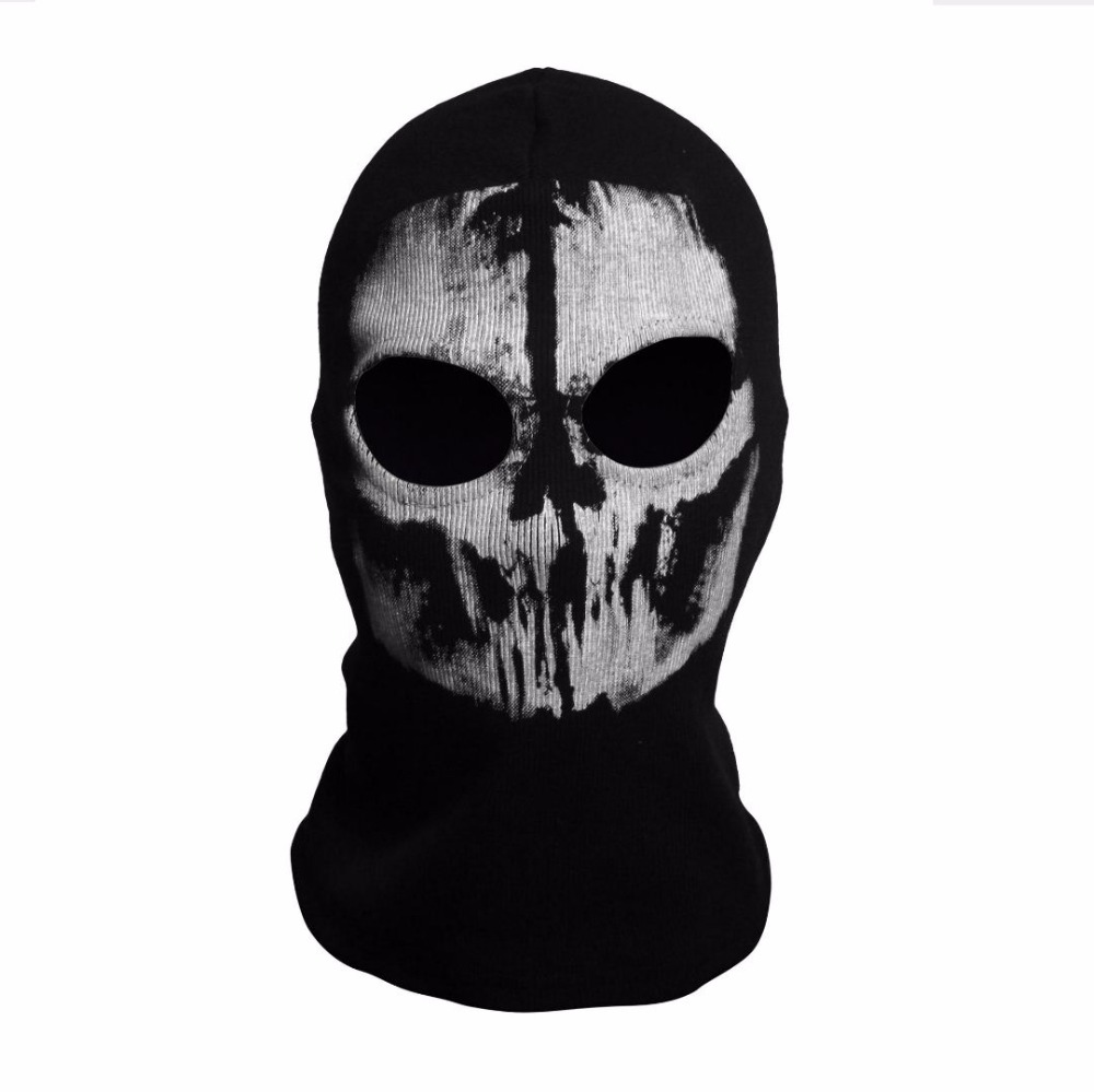 SzBlaZe Brand Call Duty Ghosts Cotton Balaclava Mask Halloween Full Face Game Cosplay Stocking mask CS player Skullies Beanies 5
