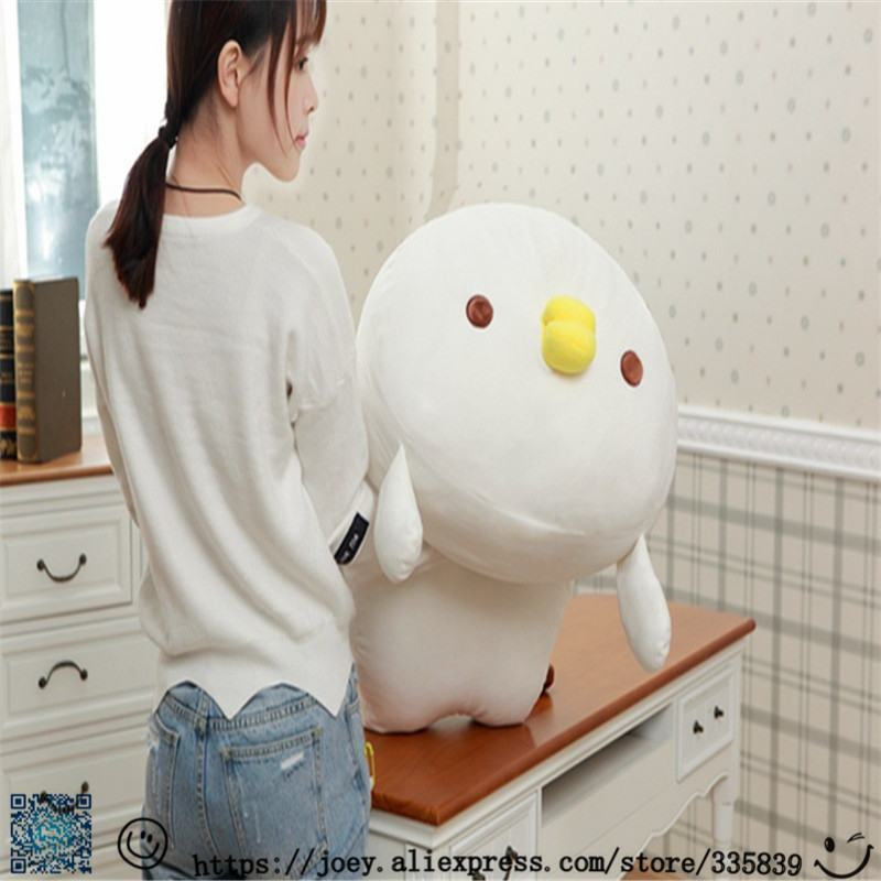"23/"" Anime Japanese Yellow Chicken Pillow Doll Plush soft kids Toy Cosplay gift"
