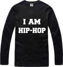 New Men's long sleeve T shirt I am Hip hop bboy skateboard Street Cotton Top Casual Hooded Fashion
