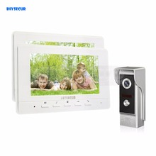 DIYSECUR 7inch Video Intercom Video Door Phone 700TV Line IR Night Vision Outdoor Camera for Home / Office Security System 1V2