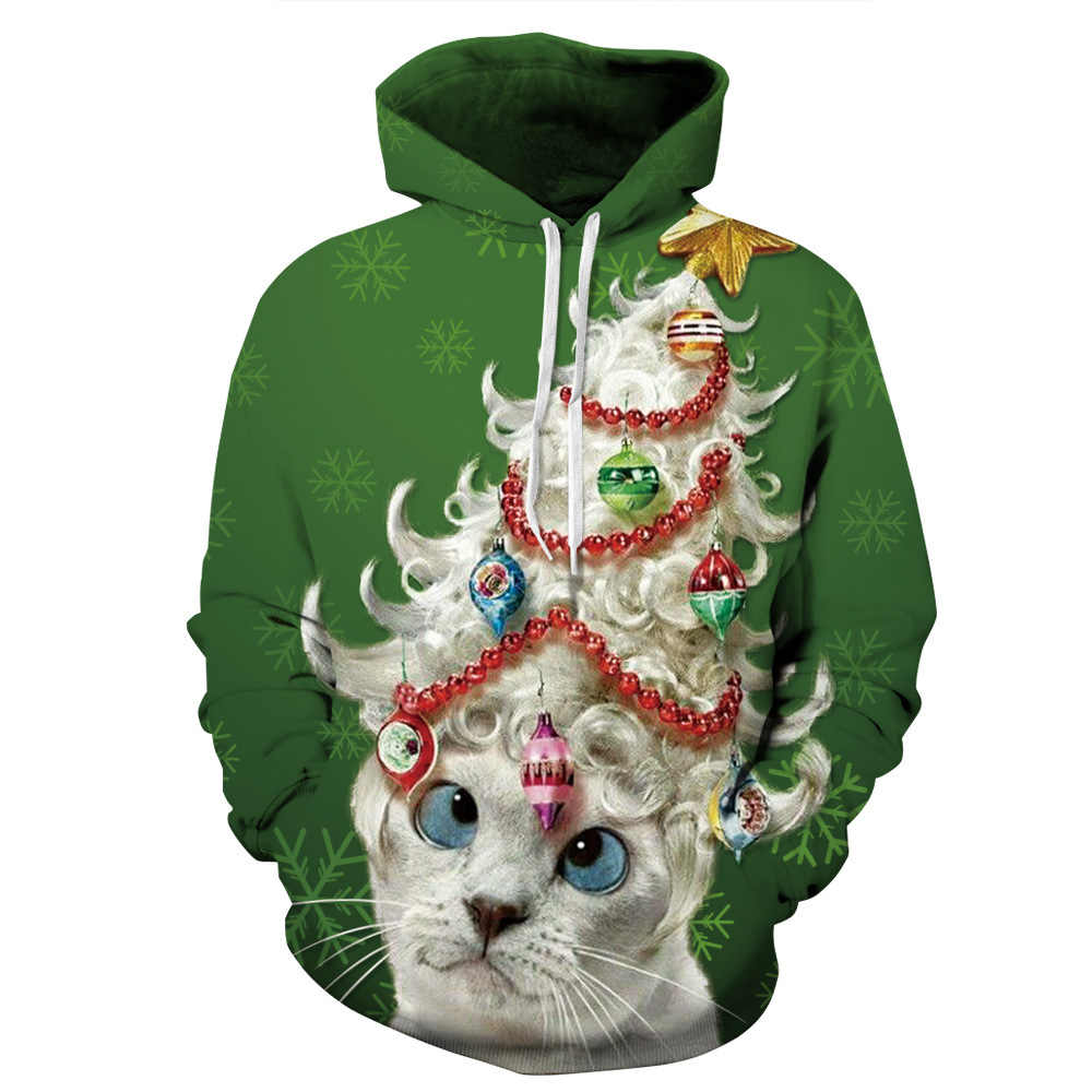 Green Day Christmas Sweater.Autumn Winter Men Women Clothes Christmas Sweater Hooded