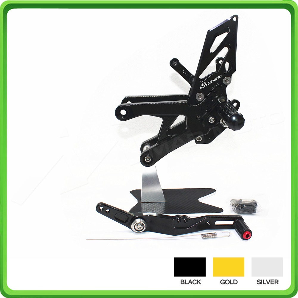RACING USE Adjustable Rearsets Rear Set Sets Footrest Foot Pegs Pedal For Yamaha R1 15 YZF-R1 R1M R1S 2015 2016 2017 2018 Black