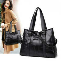 New Design Fashion Women Soft Sheep Leather Tote Bag Simple Tide Ladies Business Hand Bags