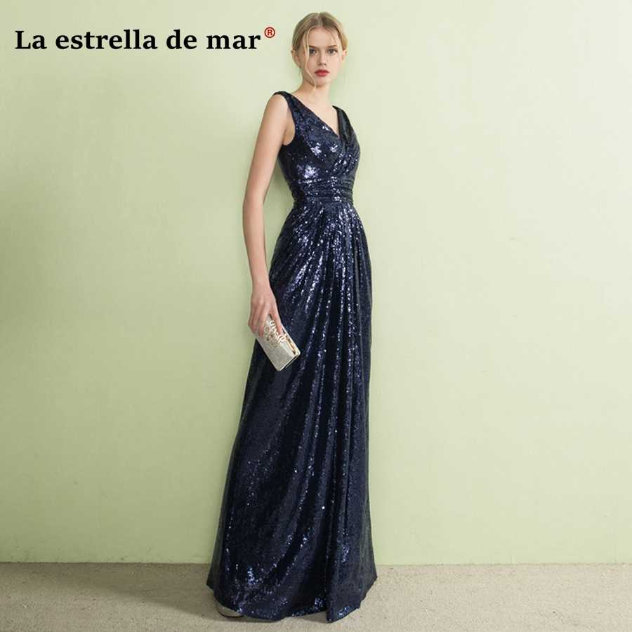 c57a76e41a9f vestido de festa longo para casamento 2018 new V neck back with sexy  mermaid rose gold