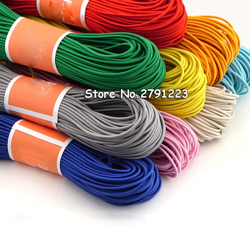 10Meters 2.8mm Colorful High-Elastic Round Elastic Band Round Elastic Rope Rubber Band Elastic Line DIY Sewing Accessories(China)