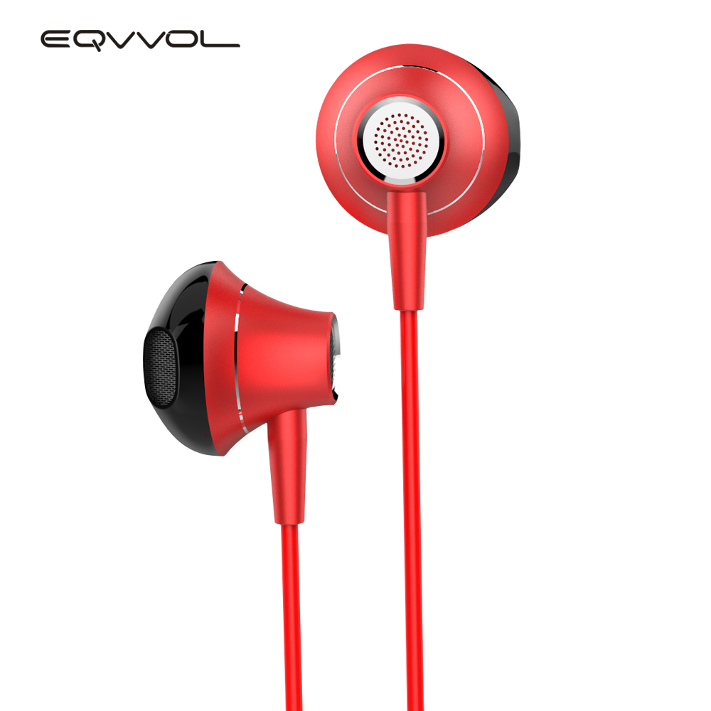 Eqvvol In-Ear Metal Headset In-line Control Stereo Sound With Mic Earphones Music Sports Headphones MP3 MP4 For Universal Phone in ear earphone headset in line control magnetic clarity stereo sound with mic earphones for iphone mobile phone mp3 mp4