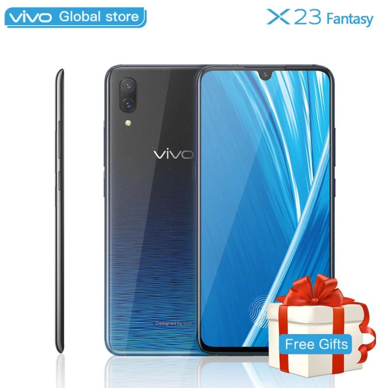 Mobile Phone vivo X23 Fantasy 6.41 8G RAM 128G ROM Snapdragon 660 Octa Core dual camera waterdrop display Screen Cell phone