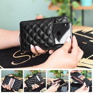 Image 3 - Nuove donne dei raccoglitori di lusso portafogli di marca del progettista della borsa Del Cuoio Genuino Sottile Sottile Portafogli E Portamonete di pelle di Pecora Femminile Portafoglio Mobile