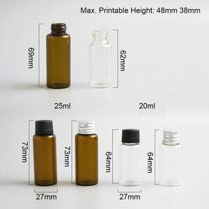 Image 2 - Promozione 500x20 ml 25ml di Liquido di Raccolta Del Campione Bottiglie di Vetro Fiale tappo A Vite Capacità 2/3oz bottiglia di Vetro del campione