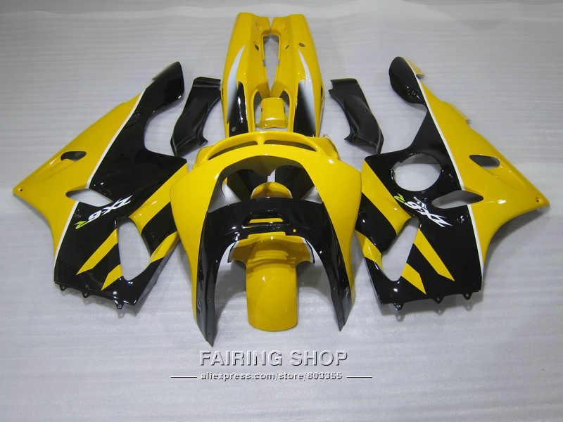 Hot sale bodywork fairing kit For Kawasaki ZX6R 94 95 96 97 yellow black fairings set for ninja zx6r 1994-1997 UI07