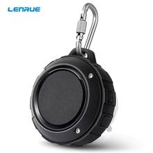 LENRUE F4 Outdoor Portable Wireless Bluetooth Bass Stereo Shower HandFree Speaker Resistance Waterproof With Mini Hook Speakers(China)