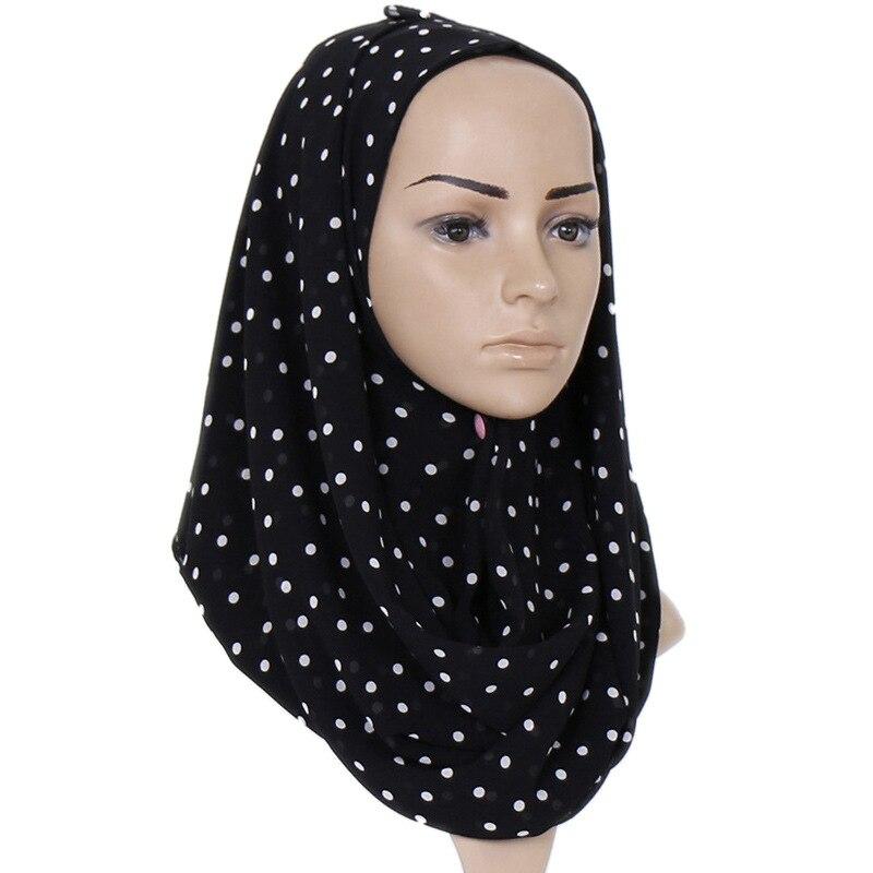 1 Pcs Fashion Polka Dot Bubble Chiffon Instant Hijab   Scarf   Printe Shawls Bufandas Muslim   Scarves     Wraps   Headband   Scarves   7 Colors