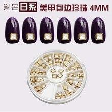 1wheel nail art acrylic assorted pearl rivet, 4 mm (S11/2) Pearls Nail Beads Studs DIY Beauty Charm Nail Art Pearls Decorations цена в Москве и Питере