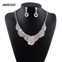 Manerson Bridal Jewelry Sets Vintage Choker Collar Statement Necklace Stunning Maxi Necklaces & Pendants Femme Collier Bijoux