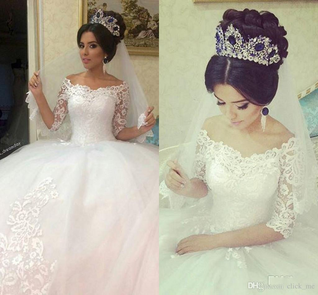 Vintage Wedding Dresses Greenwich: Ball Gowns Lace Long Sleeve Wedding Dresses 2017 Vintage