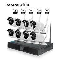 Система видеонаблюдения 1080 P Беспроводная ip-камера WiFi NVR комплект onvif-видео наблюдения wifi камера набор наружная система безопасности камеры