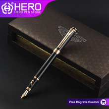 Герой перьевых ручек оригинальной аутентичной письменные принадлежности классический Iraurita 0,5 мм Золотой высокого класса подарочной коробке гладкой пишущих ручек 1078