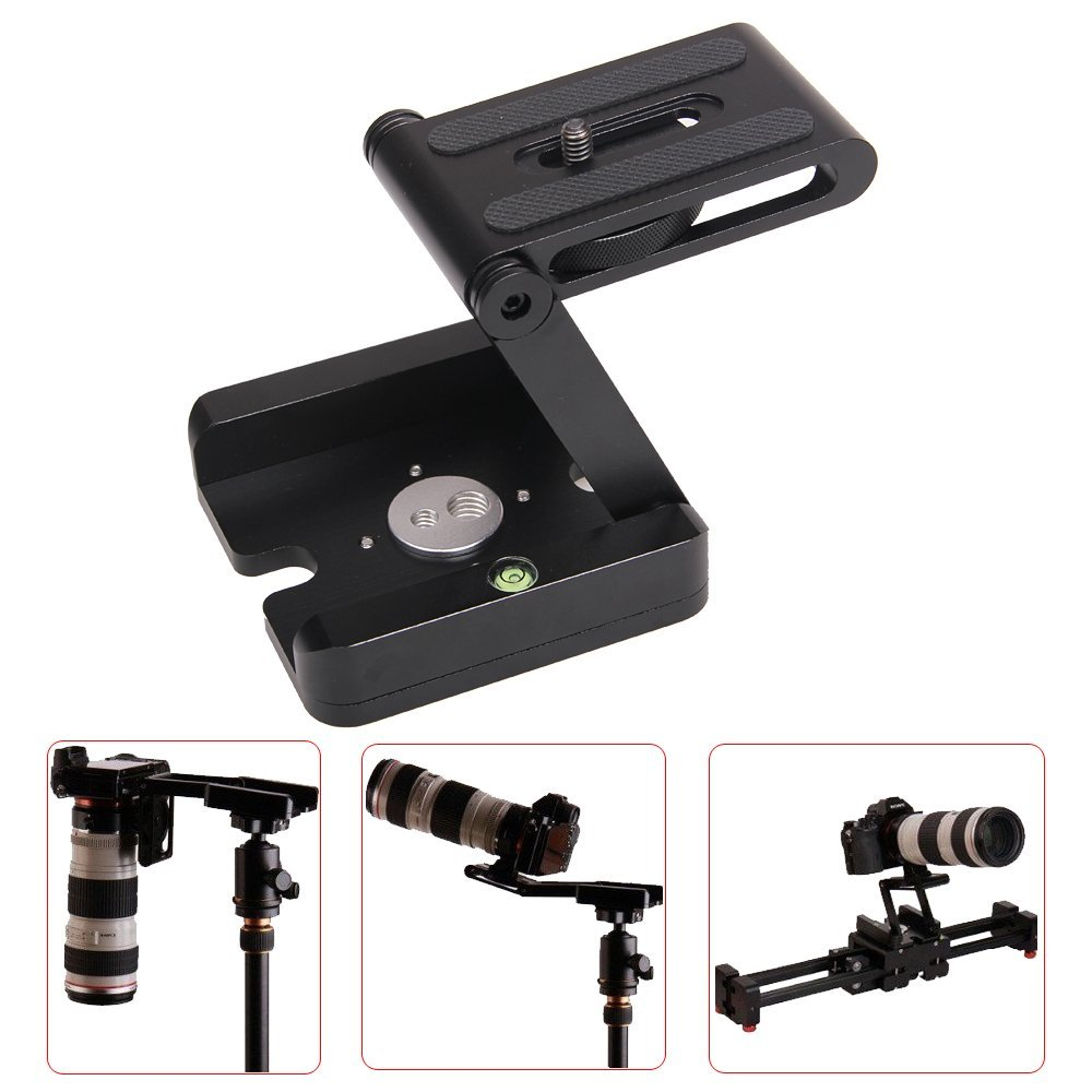 Professional Camera Flex Tripod Z Pan & Tilt Aluminum Folding Z Tripod BRACKET Head Solution Photography Studio