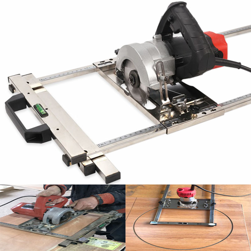 Pour l'électricité scie circulaire tondeuse Machine bord Guide positionnement planche à découper outil menuiserie routeur cercle fraisage rainure