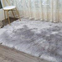 LIU Thick Plush Artificial Wool Carpet Bed Bedroom Living Room Windows Fur Rug Pad Modern Sofa