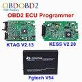 Nova V2.13 + V2.28 + FGTech V54 ECU KESS V2 KTAG Programador K TAG K-TAG V6.070 FG Tech Galletto 4 Chip Sintonia Kit KESS 4.036 OBD2